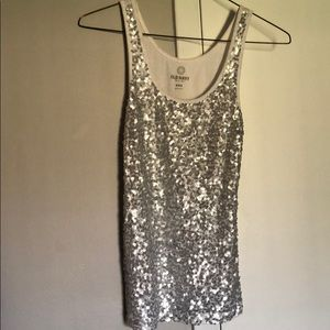 Silver sparkly tank